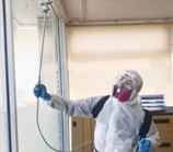 隅々まで除菌・抗菌作業を施します