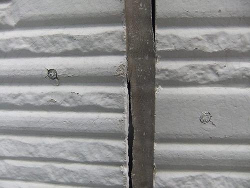 外壁ヒビ割れコーキング補修(左官仕上げまで)