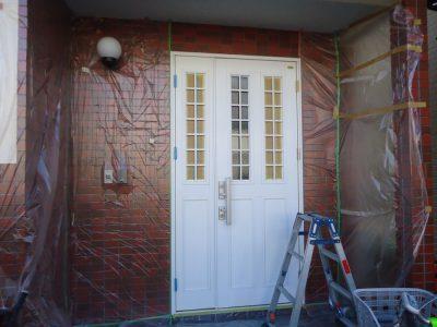 玄関ドア塗装(表面のみ)