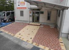 姫路市別所町 駐車場景観舗装工事 マットスプレー工法