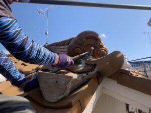姫路市 屋根の漆喰改修