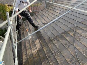 姫路 屋根塗装前の高圧洗浄